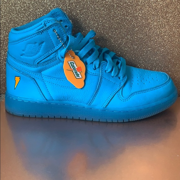 Blue High Top Gatorade Nikes   Poshmark